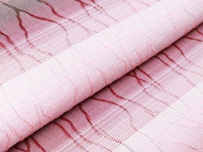 Webware Baumwolle Sanetta - aufnähte Ranken - weiß/rosa