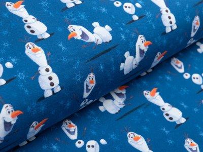 Sweat French Terry Disney-Frozen 2 - Olaf macht quatsch - blau