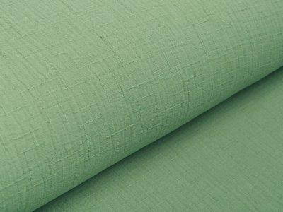 Bambus Musselin Baumwolle Double Gauze Snoozy - Leinenoptik - uni apfelgrün