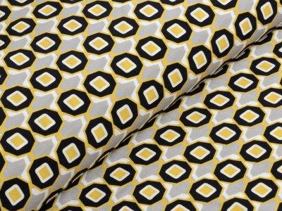 KDS Queen's Collection Isabella - Webware Viskose - geometrische Muster - grau