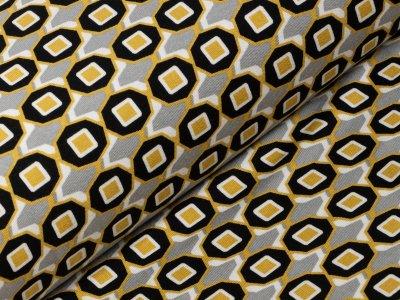 KDS Queen's Collection Isabella - Jersey Viskose - geometrische Muster - grau