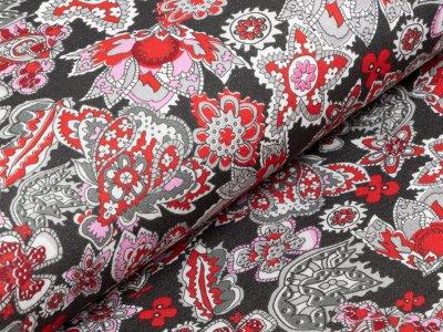 KDS Queen's Collection - Jersey Viskose - abstrakte Motive - dunkelgrau
