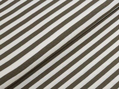 KDS Queen's Collection - Jersey Viskose - Streifen - weiß/olive