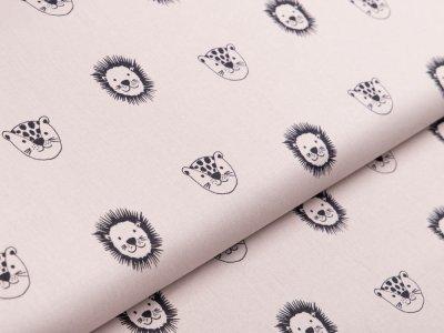 Webware Baumwolle Popeline by Poppy - Wildtiere - beige