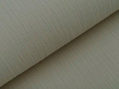 Bambus Musselin Baumwolle Double Gauze Snoozy - Leinenoptik - uni stein