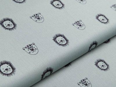Webware Baumwolle Popeline by Poppy - Wildtiere - altmint