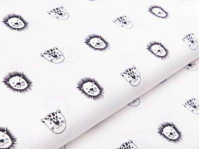 Webware Baumwolle Popeline by Poppy - Wildtiere - wollweiß