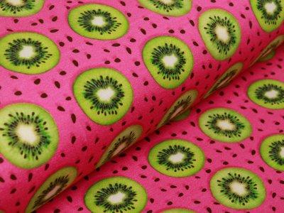 Jersey Digitalprint Stenzo - Kiwischeiben auf Punkten - pink