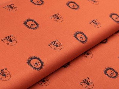 Webware Baumwolle Popeline by Poppy - Wildtiere - terrakotta