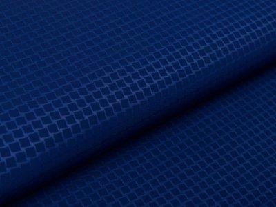 Hochwertiger Softshell Jackenstoff - Karomuster - blau