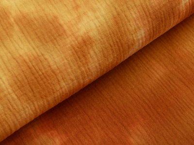 Musselin Baumwolle Double Gauze Snoozy Tie Dye - Batikstyle - ocker