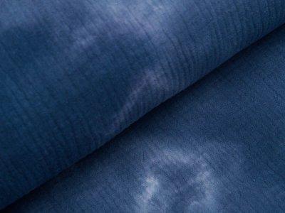 Musselin Baumwolle Double Gauze Snoozy Tie Dye - Batikstyle - jeansblau