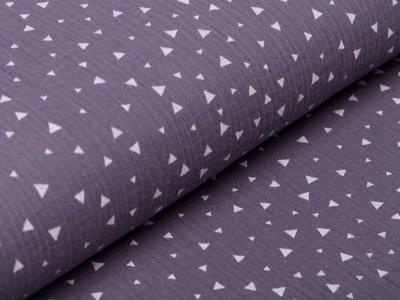 Musselin Baumwolle Double Gauze - Triangeln - dunkles grau