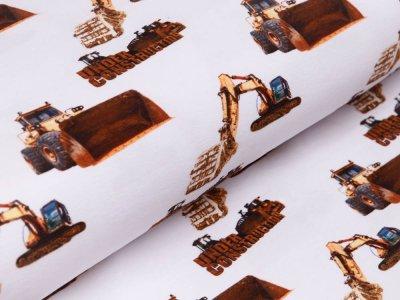 Jersey Digitalprint Stenzo - verschiedene Baufahrzeuge - weiß