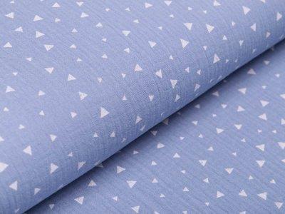 Musselin Baumwolle Double Gauze - Triangeln - blau