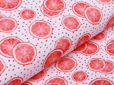Jersey Digitalprint Stenzo - Orangenscheiben auf Punkten - weiß