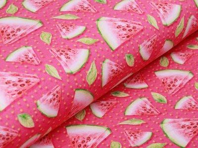 Jersey Digitalprint Stenzo - Melonenstücke auf Punkten - pink