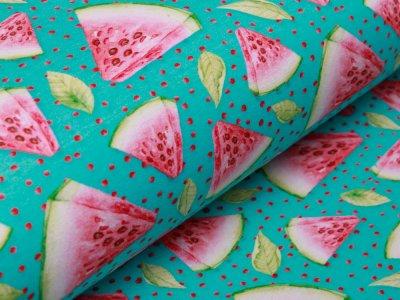 Jersey Digitalprint Stenzo - Melonenstücke auf Punkten - türkis