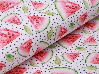 Jersey Digitalprint Stenzo - Melonenstücke auf Punkten - weiß