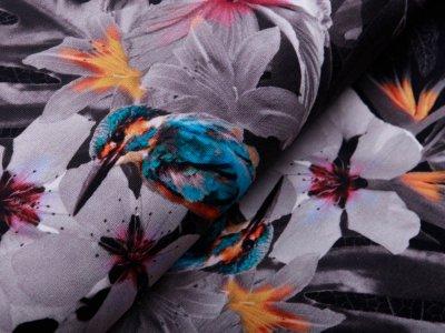 Jersey - Tukane und Palmen - anthrazit