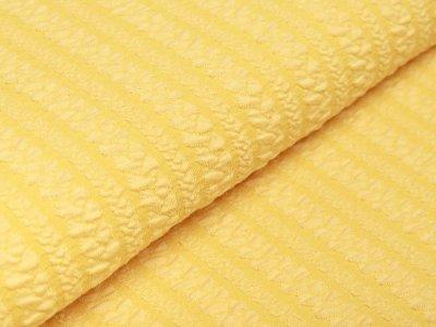 Jersey Jacquard - Zopfmuster  - gelb
