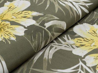 KDS Queen's Collection - Viskose Webware - Lilien - olive