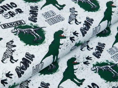 Jersey Swafing Klaas - wilde Dinos - weiß