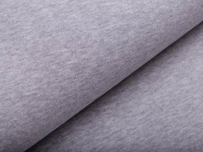 Single Jersey - meliert grau