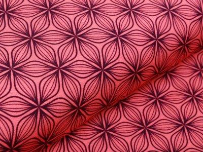 Jersey Viskose Swafing Puristic Flowers by lycklig design - Blumen - koralle