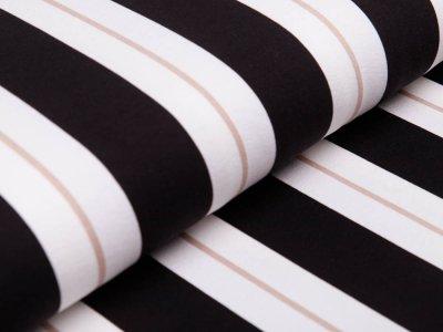 Jersey - Streifen - weiß