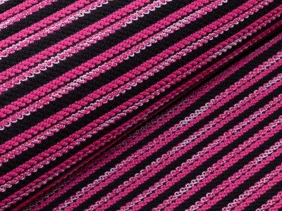 KDS Queen's Collection Ramona - Strickbouclé - geflochtene Streifen - magenta