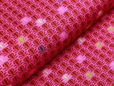 Webware Baumwolle Patchwork - abstraktes Gras - pink
