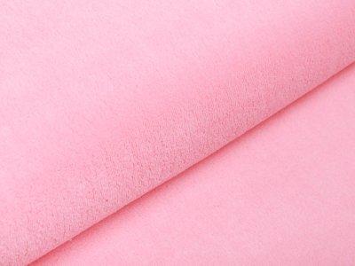 Wellnessfleece Teddyplüsch - uni helles rosa