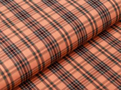 Webware Baumwolle - Karos - orange