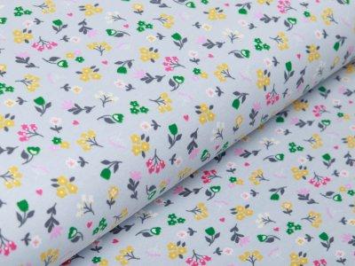 Jersey - Blumenwiese - grau