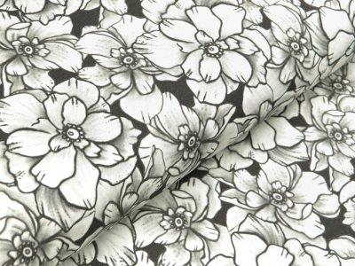 Jersey Eigenproduktion KDS Elfi's Art - Elfen - Blumen Kombi - grau