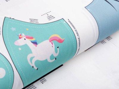 Webware Baumwolle Digitaldruck PANEL ca. 60 x 145 cm für Behelfsmasken - 12 Motive für Frauen und Mädchen - weiß