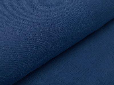 Baumwolle Feinstrick-Jersey Pointoille Lochmuster - Regenbögen - jeans