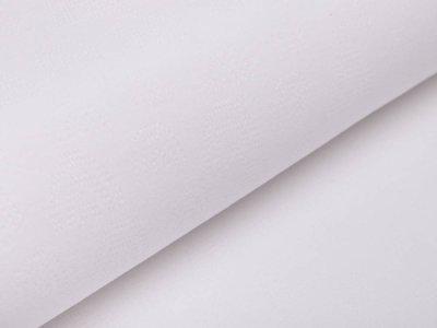 Baumwolle Feinstrick-Jersey Pointoille Lochmuster - Regenbögen - weiß