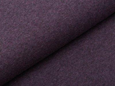 Glattes Bündchen im Schlauch Swafing Heike 95 cm - meliert dunkles violett