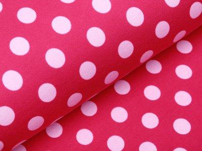 Angerauter Sweat - Punkte - pink