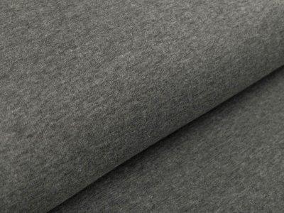 Alpenfleece - meliert dunkles grau