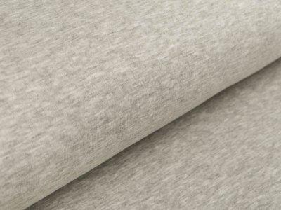 Alpenfleece - meliert helles grau