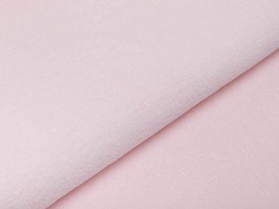 Baumwollfleece - uni zartes rosa