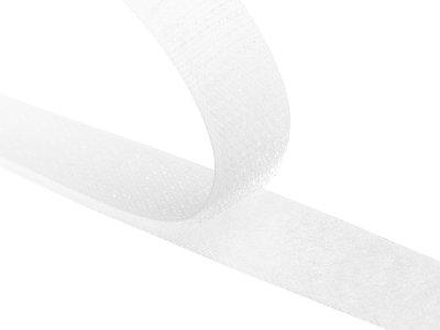 Klettband  zum Aufnähen Flausch + Haken ca. 16mm - weiß