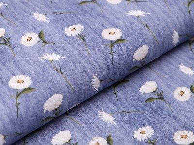 Webware Baumwolle in Jeansoptik - Margeriten - jeans