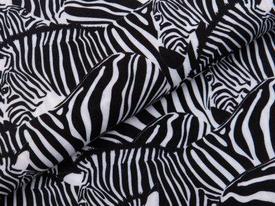 Webware Viskose Swafing Daytona - Zebras - schwarz
