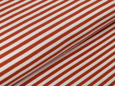 Jersey by Poppy - Streifen - weiß/rost