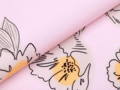 Webware Viskose Swafing Happy Me by Cherry Picking - Blüten - rosa