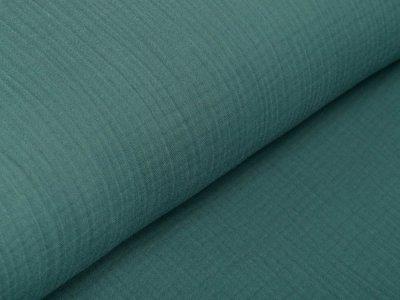 Musselin Baumwolle Triple Gauze - uni dunkles grün